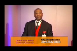 Charles Ajayi-Khiran Compering The CBC African Business Awards 2008